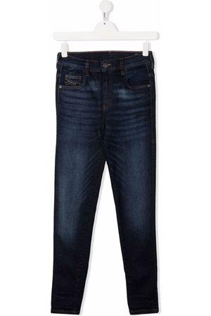 Diesel Kids TEEN mid-rise straight-leg jeans