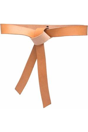 FORTE FORTE Knot-detail leather belt