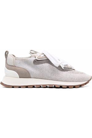 Brunello Cucinelli Damen Sneakers - Monili-embellished knit sneakers