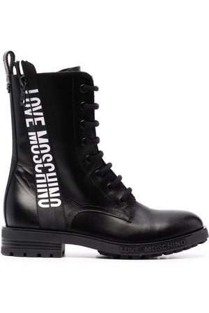 Love Moschino Damen Stiefeletten - Logo-tape ankle boots