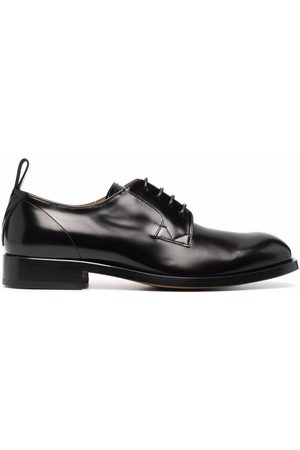 VERSACE V leather lace-up shoes
