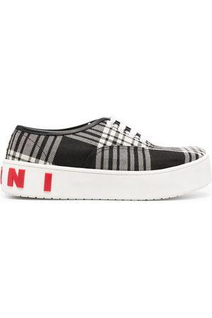 Marni Herren Schnürschuhe - Check print lace-up sneakers