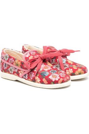 PèPè Floral print bow-embellished loafers