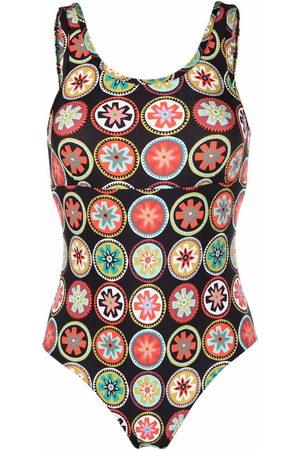 La DoubleJ Jazzercize floral-print bodysuit