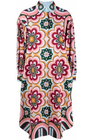La DoubleJ Damen Freizeitkleider - Floral shift shirt dress