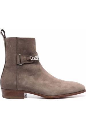 Philipp Plein Herren Stiefel - Nabuk leather ankle boots