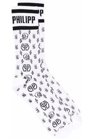 Philipp Plein Socken & Strümpfe - Monogram-pattern socks