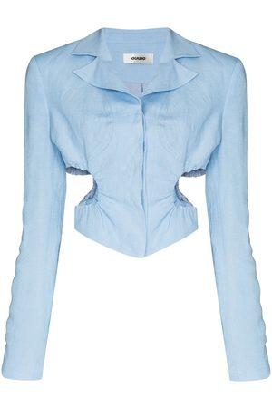 DANIELLE GUIZIO Cropped cutout blazer jacket
