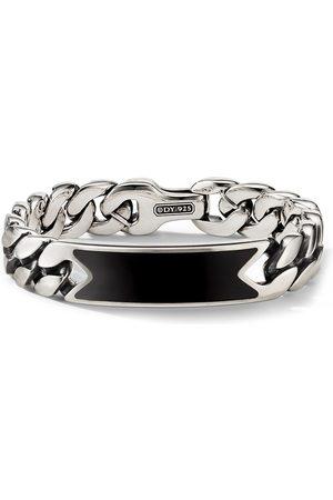 David Yurman Sterling onyx curb-chain ID bracelet