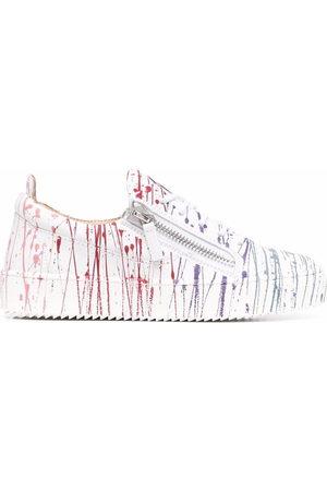 Giuseppe Zanotti Damen Sneakers - Frankie paint-splatter sneakers