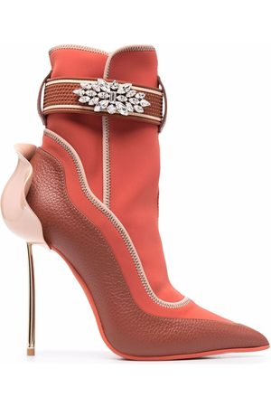 LE SILLA Crystal-embellished snorkelling boots
