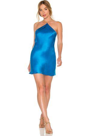 Amanda Uprichard X REVOLVE Claudia X Back Chain Dress in - Blue. Size L (also in XS, S, M).