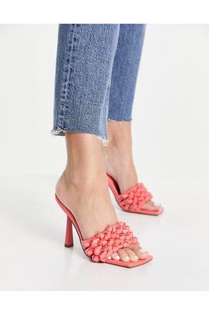 ASOS Damen Sandalen - Natasha platform barely there heeled sandals in pastel-Multi