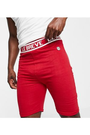 Le Breve Herren Shorts - Plus lounge co-ord shorts in red