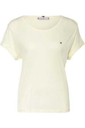 Tommy Hilfiger Damen Shirts - T-Shirt Mit Leinen gelb