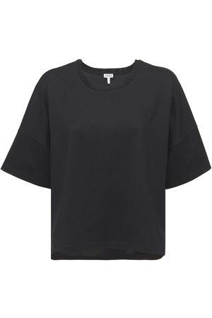 Loewe T-shirt Aus Baumwolljersey Mit Logo