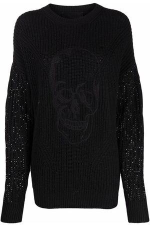 Philipp Plein Crystal-embellished knitted jumper