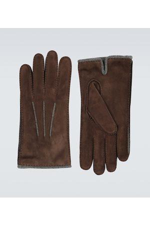 Loro Piana Herren Handschuhe - Handschuhe aus Veloursleder