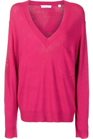 Equipment Knitted slouch V-neck top