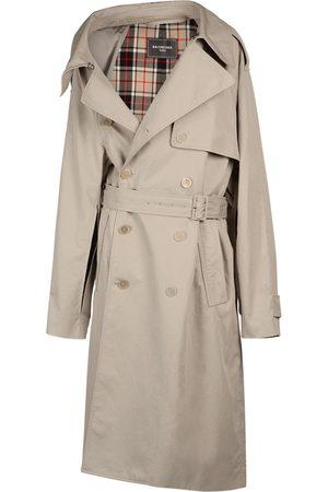 Balenciaga Damen Trenchcoats - Asymmetrischer Trenchcoat Aus Baumwolldrillich