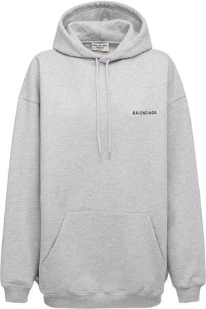 Balenciaga Damen Sweatshirts - Hooded Cotton Jersey Sweatshirt