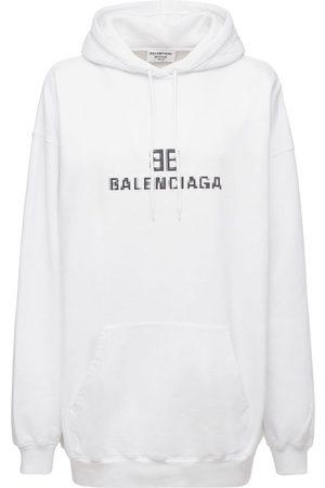 BALENCIAGA Logo Hooded Cotton Jersey Sweatshirt