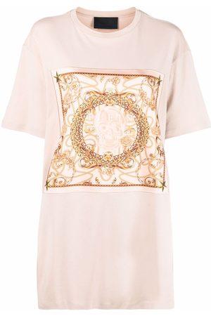Philipp Plein New Baroque print T-shirt dress