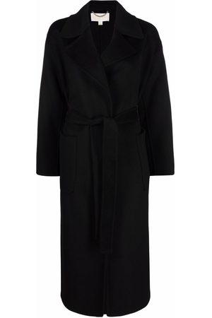 Michael Kors Damen Lange Kleider - Double face belted long-length robe coat