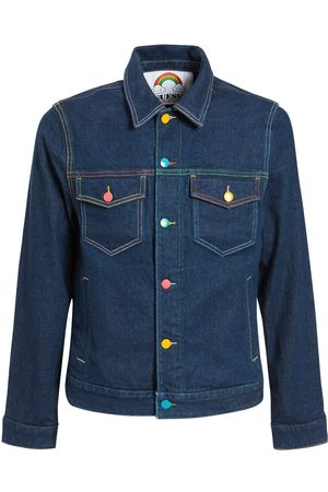 GUESS X FRIENDSWITHYOU Herren Jeansjacken - Fwy Capsule Logo Denim Jacket