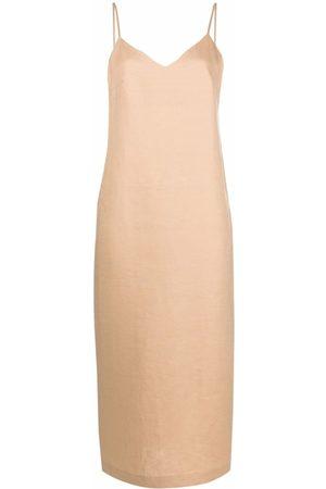 12 STOREEZ Damen Midikleider - Midi slip dress