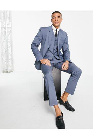 ASOS Slim waistcoat in blue