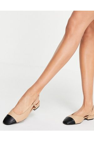 ASOS Lively slingback ballet flats in and black