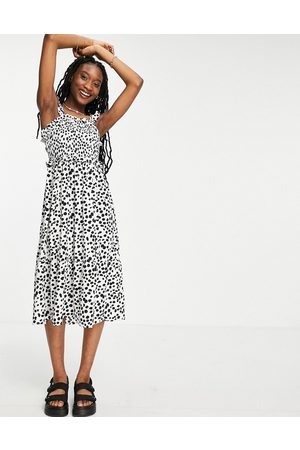 Influence Midi dress in black and white spot