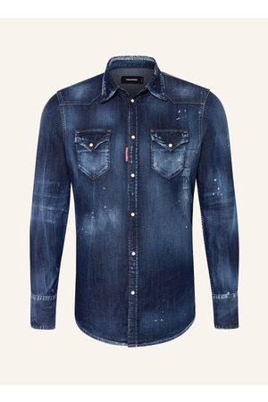 Dsquared2 Herren Denim - Jeanshemd Extra Slim Fit blau