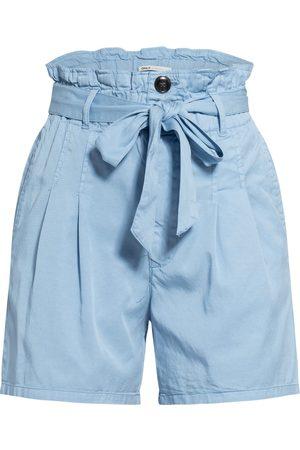 Only Damen Shorts - Paperbag-Shorts blau
