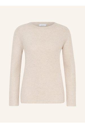 darling harbour Damen Strickpullover - Cashmere-Pullover beige
