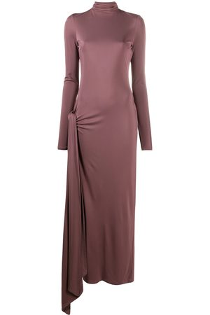 The Attico Damen Cocktail & Partykleider - Fitted front slit maxi dress