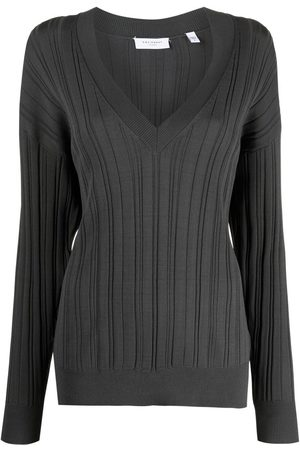 Equipment Anderes V-neck knitted top