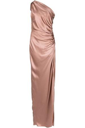 Michelle Mason Damen Asymmetrische Kleider - One-shoulder silk gown