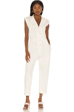BLANK NYC Denim Jumpsuit in - White. Size L (also in XS, S, M).