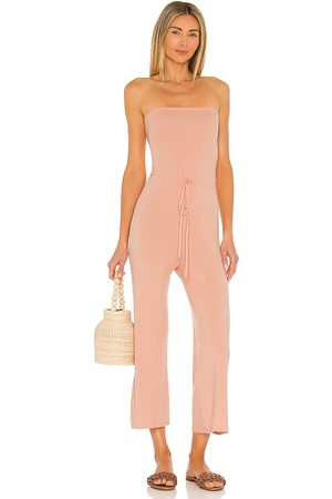 Lovers + Friends Lola Knit Jumpsuit in - Blush. Size L (also in XS, S, M).