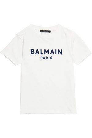 Balmain Bedrucktes T-Shirt aus Baumwolle