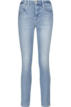 Frame Skinny Cropped Jeans Le High