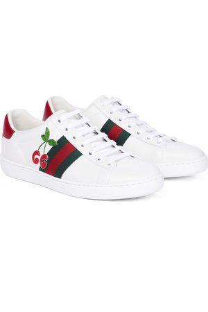 Gucci Sneakers Ace aus besticktem Leder