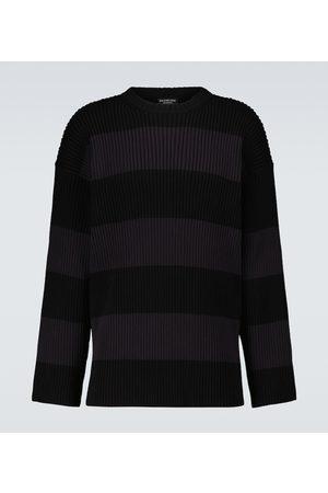 Balenciaga Gestreifter Pullover aus Baumwolle