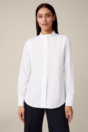 Windsor Damen Blusen - Popeline-Hemdbluse mit Schulterdetails in