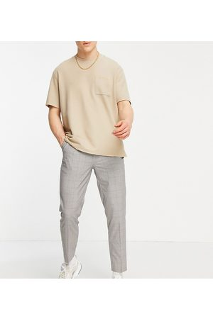 New Look Tapered smart trousers in brown check