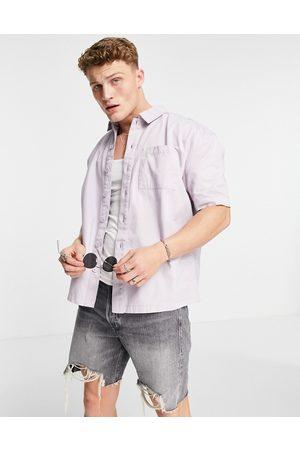 New Look Herren Kurze Ärmel - Short sleeve boxy shirt in lilac-Purple
