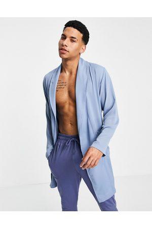 ASOS Dressing gown in seersucker-Blue