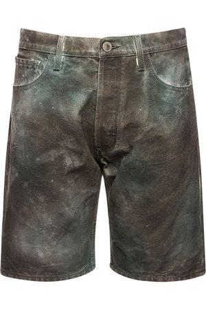 The Attico Damen Shorts - Shorts Aus Baumwollcanvas Mit Tarnfarbendruck